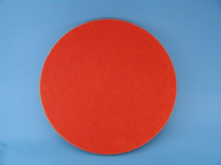 "15"" Red Spray Buffing Pad 1x5"
